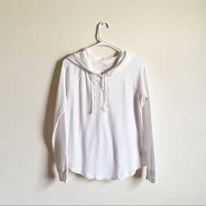 American Eagle Vintage Waffle Knit White Hoodie
